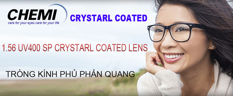Tròng kính Chemi Crystal U1 Coated 1.56