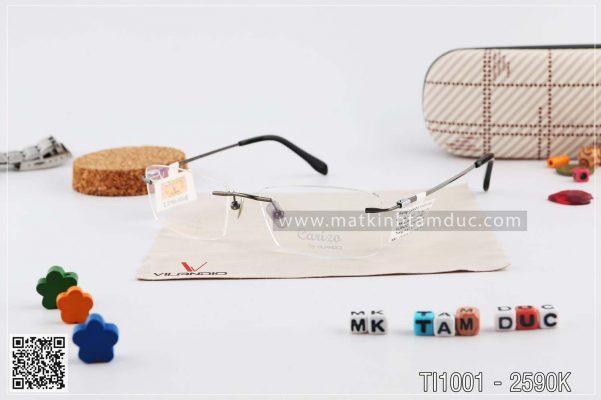 Gọng kính Pure-titanium carizo thiết kế tinh tế