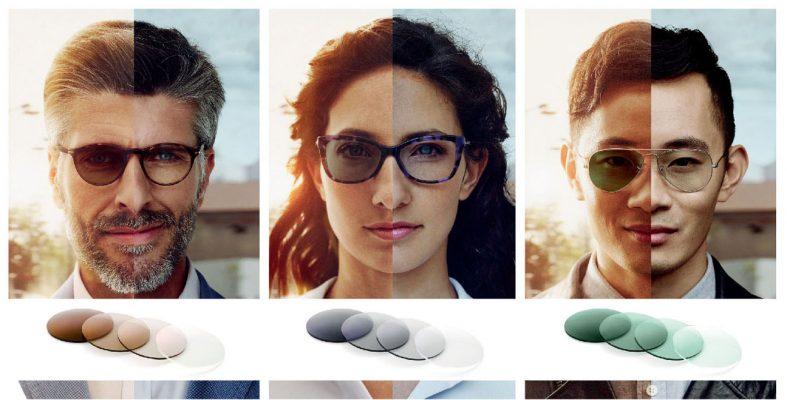 Image result for kính mát có độ và kính cận đổi màu