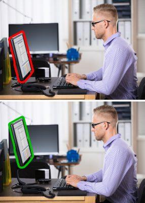 Hạn chế mỏi mắt bằng cach điều chỉnh màn hình máy tính phù hợp