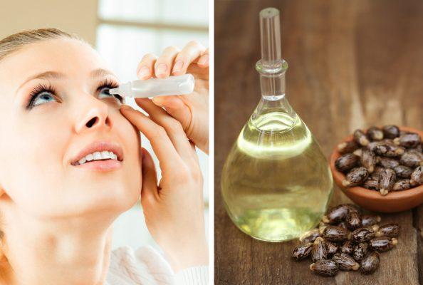 nhỏ một đến ba giọt dầu thầu dầu mỗi ngày trước khi ngủ sẽ giúp mắt luôn khỏe đẹp
