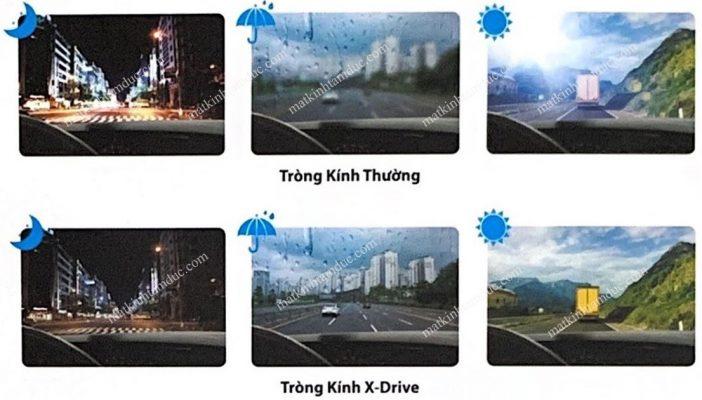 Tròng kính chemi X-drive chuyên dụng cho người đi xe hơi