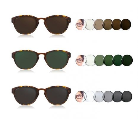 Tròng kính Essilor Transition đổi màu linh hoạt khi ra nắng