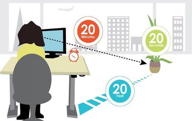 Bảo vệ mắt theo phương pháp 20 - 20 - 20